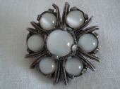 Vintage signed 'Miracle' Brooch with Moonstone Effect Glass Jewels (SOLD)